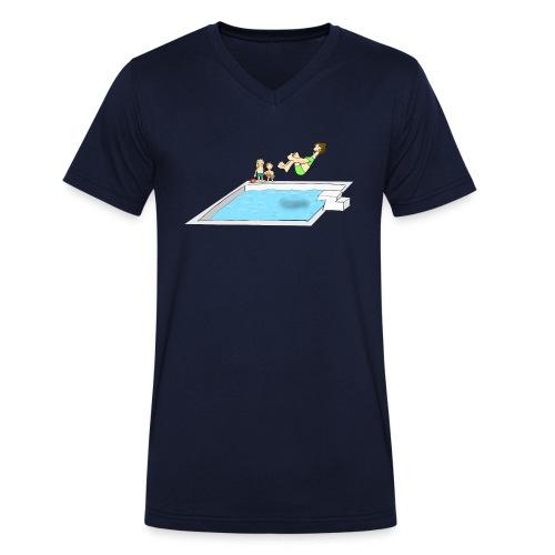 Coole Mama - Männer Bio-T-Shirt mit V-Ausschnitt von Stanley & Stella