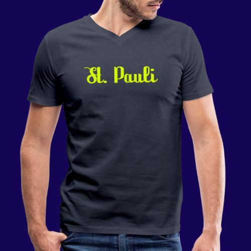 St. Pauli Logotype: Dein Kieztour Begleiter - Männer Bio-T-Shirt mit V-Ausschnitt von Stanley & Stella