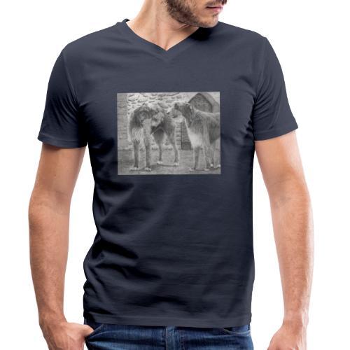 Irish Wolf hound - Økologisk Stanley & Stella T-shirt med V-udskæring til herrer
