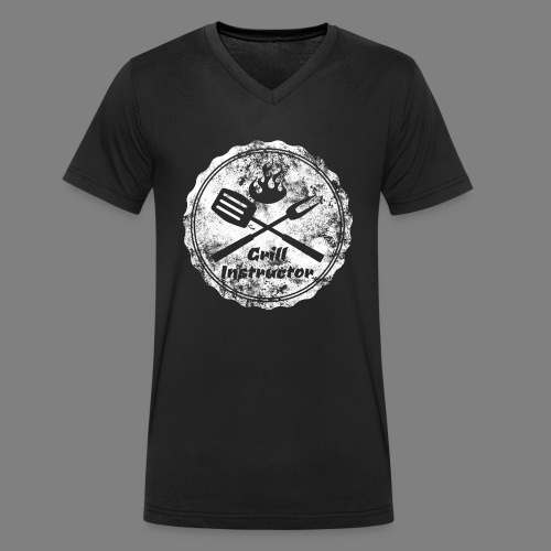 Grill Instructor - Männer Bio-T-Shirt mit V-Ausschnitt von Stanley & Stella
