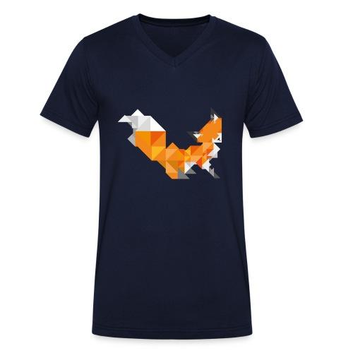 Foxy Triangle - Männer Bio-T-Shirt mit V-Ausschnitt von Stanley & Stella