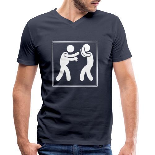 Boxen mit Bier - Männer Bio-T-Shirt mit V-Ausschnitt von Stanley & Stella