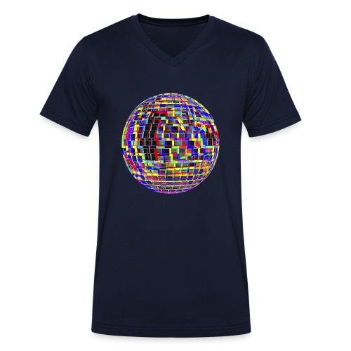Boule à facettes psychédélique - T-shirt bio col V Stanley & Stella Homme