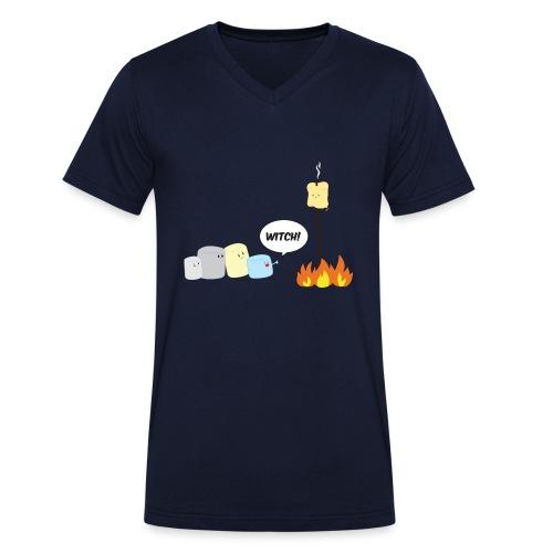 Marshmallow Witch - T-shirt ecologica da uomo con scollo a V di Stanley & Stella