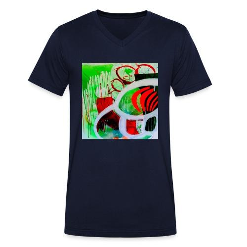NIZE_art_t-shirt-jpg - Økologisk Stanley & Stella T-shirt med V-udskæring til herrer
