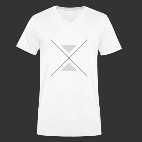 hipster triangles - Men's Organic V-Neck T-Shirt by Stanley & Stella