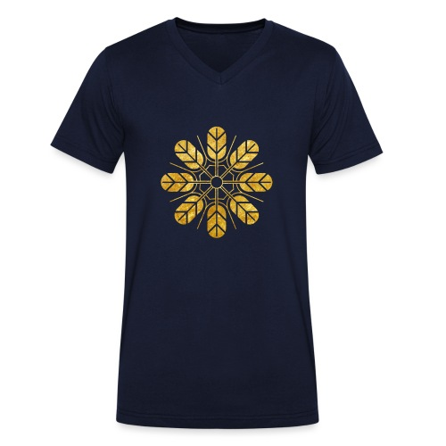 Inoue clan kamon in gold - Men's Organic V-Neck T-Shirt by Stanley & Stella
