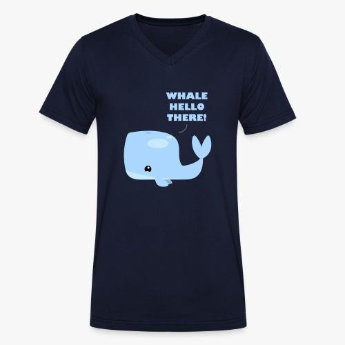 Whale Hello There - Økologisk Stanley & Stella T-shirt med V-udskæring til herrer