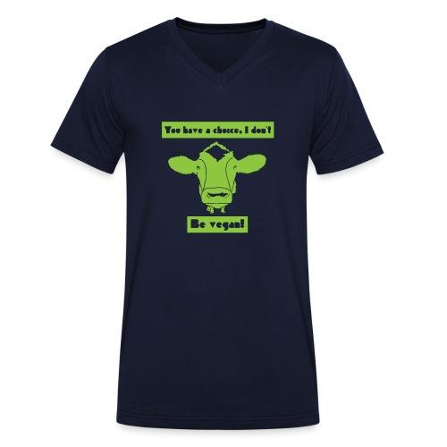 Be Vegan! - Men's Organic V-Neck T-Shirt by Stanley & Stella