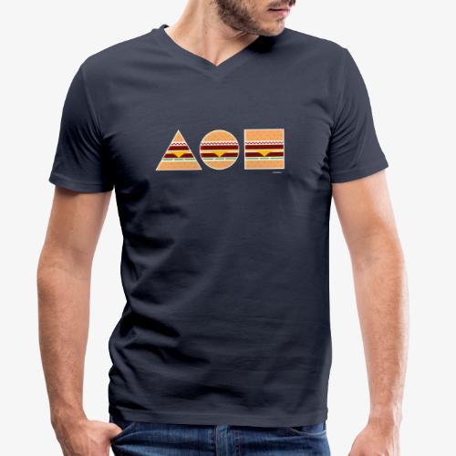 Graphic Burgers - T-shirt ecologica da uomo con scollo a V di Stanley & Stella