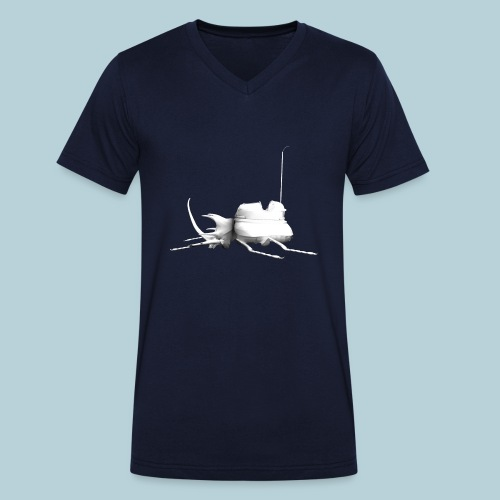RATWORKS Luna Stag Beetle - Men's Organic V-Neck T-Shirt by Stanley & Stella