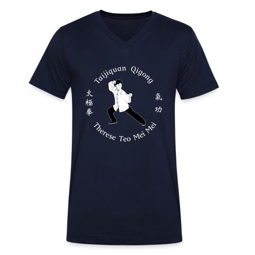 Teo Mei Mei White Logo - Ekologisk T-shirt med V-ringning herr från Stanley & Stella