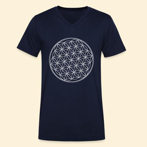 Lebensblume - Männer Bio-T-Shirt mit V-Ausschnitt von Stanley & Stella