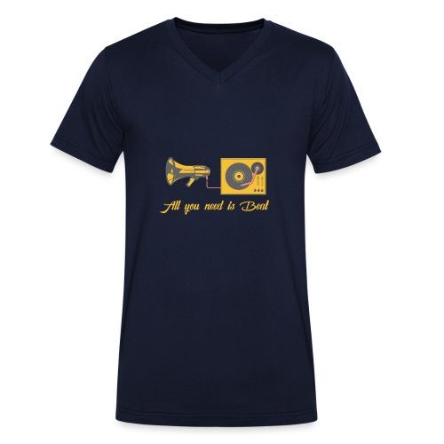 All you need is beat - Männer Bio-T-Shirt mit V-Ausschnitt von Stanley & Stella