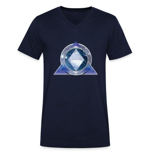 kosmische Pyramide - Männer Bio-T-Shirt mit V-Ausschnitt von Stanley & Stella