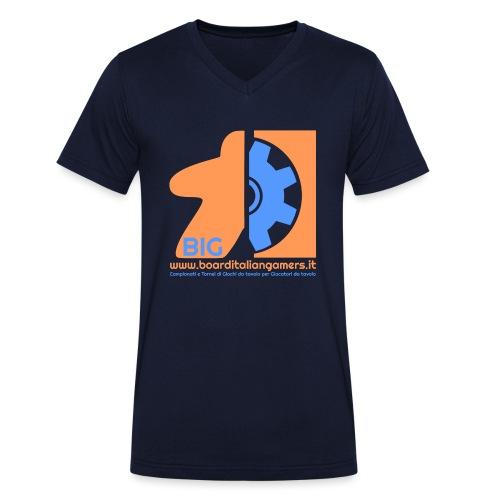 BIG - T-shirt ecologica da uomo con scollo a V di Stanley & Stella