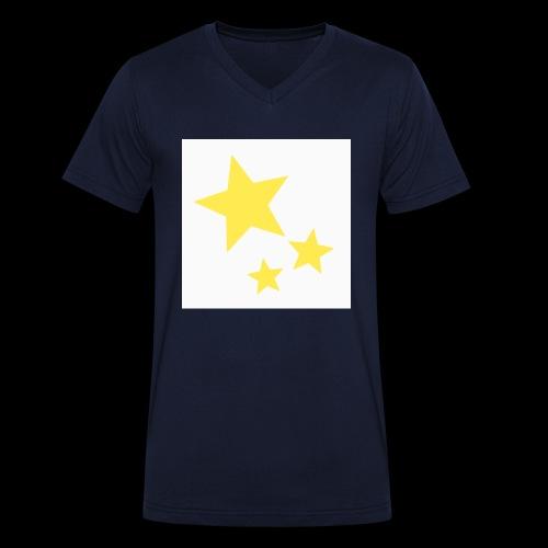 Dazzle Zazzle Stars - Men's Organic V-Neck T-Shirt by Stanley & Stella