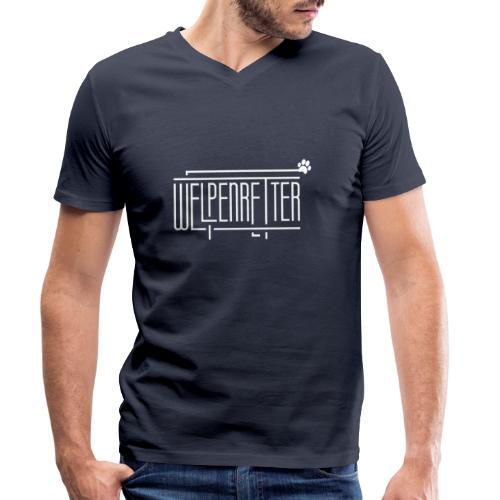 Welpenretter - Männer Bio-T-Shirt mit V-Ausschnitt von Stanley & Stella