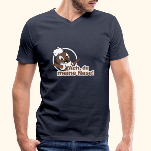 Pittiplatsch Ach, du meine Nase 2D - Männer Bio-T-Shirt mit V-Ausschnitt von Stanley & Stella