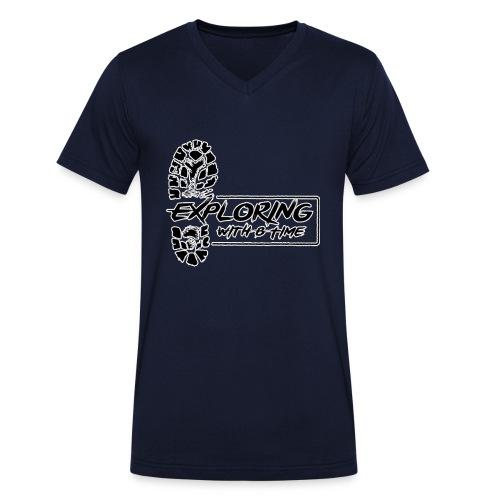 logotrns 2500 - Mannen bio T-shirt met V-hals van Stanley & Stella