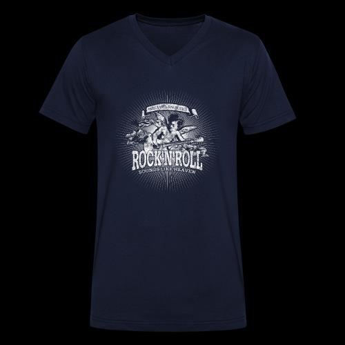 Rock 'n' Roll - Sounds Like Heaven (white) - Männer Bio-T-Shirt mit V-Ausschnitt von Stanley & Stella