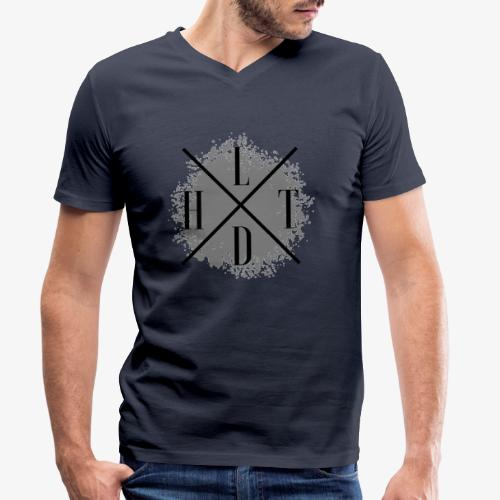 Hoamatlaund crossed - Männer Bio-T-Shirt mit V-Ausschnitt von Stanley & Stella