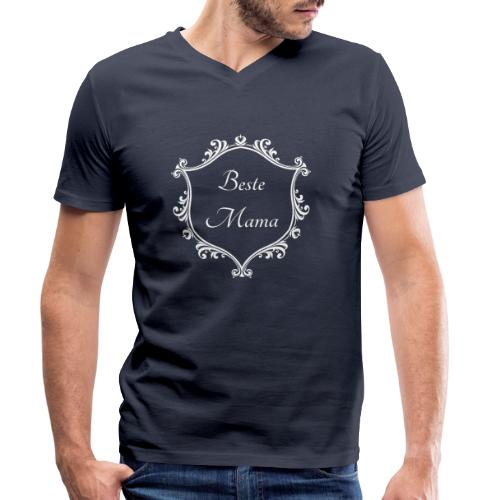 Beste Mama - Männer Bio-T-Shirt mit V-Ausschnitt von Stanley & Stella
