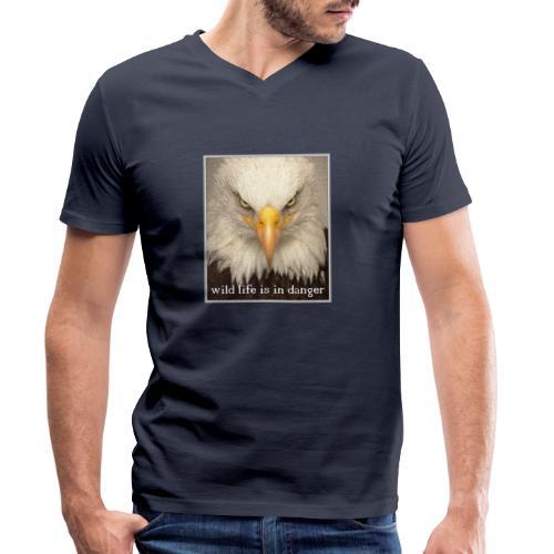 wild life is in danger shirt - Männer Bio-T-Shirt mit V-Ausschnitt von Stanley & Stella