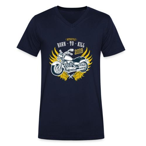 Motorcycle4 - Camiseta ecológica hombre con cuello de pico de Stanley & Stella