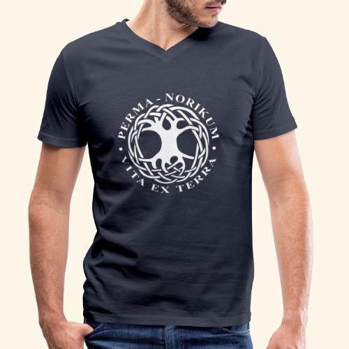 PERMA NORIKUM weiss - Männer Bio-T-Shirt mit V-Ausschnitt von Stanley & Stella