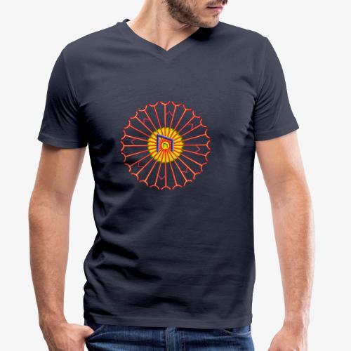 Strahlenkreis mit Rune - Männer Bio-T-Shirt mit V-Ausschnitt von Stanley & Stella
