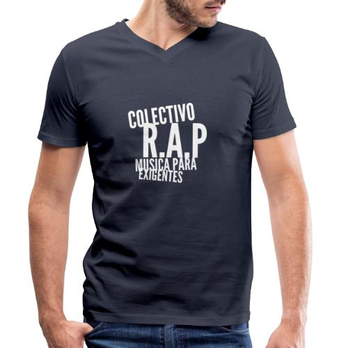 SOLO PARA AMANTES DEL RAP// Colectivo R.A.P - Camiseta ecológica hombre con cuello de pico de Stanley & Stella