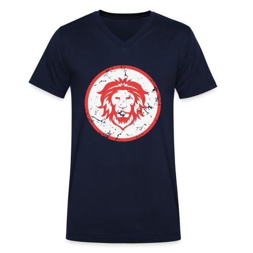 Löwe Vintage Symbol - Männer Bio-T-Shirt mit V-Ausschnitt von Stanley & Stella