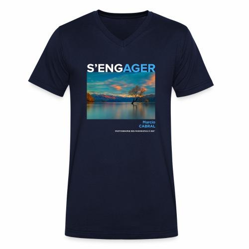 1 Achat = 1 Don à la Fondation Surf Rider Europe - T-shirt bio col V Stanley & Stella Homme