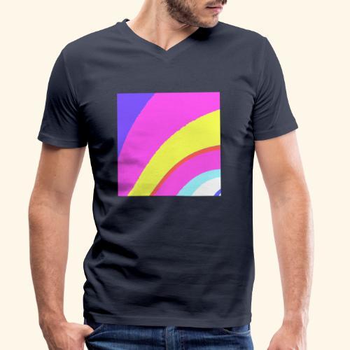 Curva colorata - T-shirt ecologica da uomo con scollo a V di Stanley & Stella
