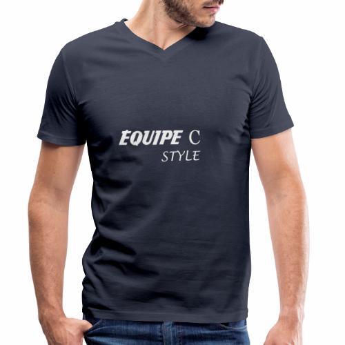 EQUIPE C blanc - T-shirt bio col V Stanley & Stella Homme
