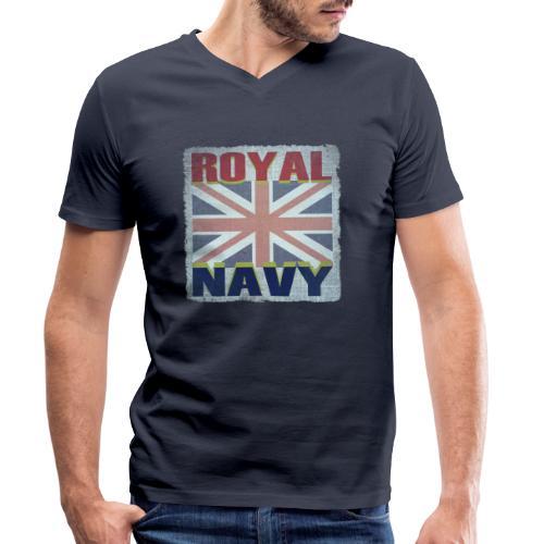 ROYAL NAVY - Men's Organic V-Neck T-Shirt by Stanley & Stella