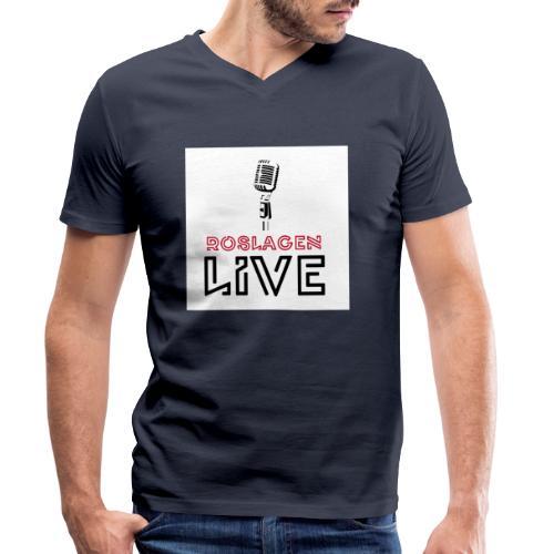 Roslagen Live - Ekologisk T-shirt med V-ringning herr från Stanley & Stella