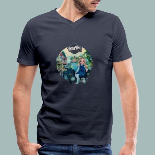 Letting Go Merch - Mannen bio T-shirt met V-hals van Stanley & Stella