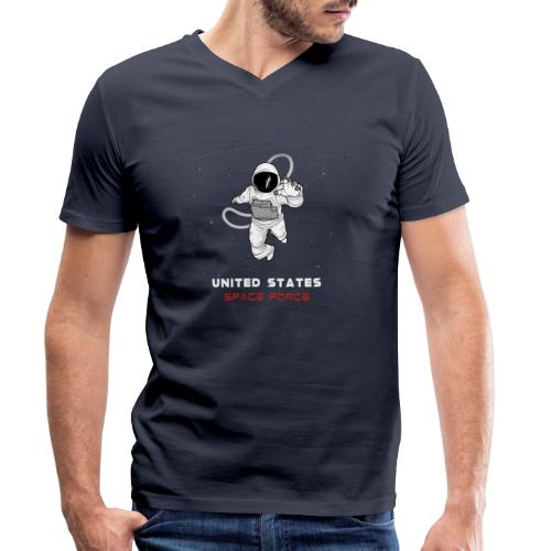 SPACE FORCE T-SHIRT - Men's Organic V-Neck T-Shirt by Stanley & Stella