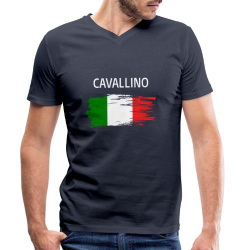 Cavallino Fanprodukte - Männer Bio-T-Shirt mit V-Ausschnitt von Stanley & Stella