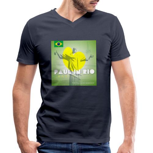 PAUL IN RIO RADIO - Men's Organic V-Neck T-Shirt by Stanley & Stella