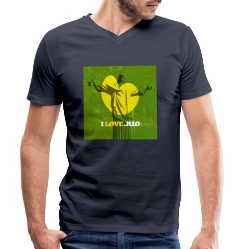 ILOVE.RIO MATA ATLANTICA - Men's Organic V-Neck T-Shirt by Stanley & Stella