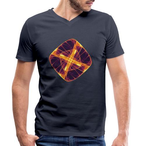 Chakra Mandala Mantra OM Chaos Star Circle 12255i - Men's Organic V-Neck T-Shirt by Stanley & Stella