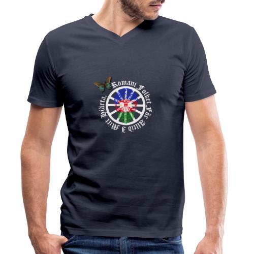 LennyhjulRomaniFolketivitfjerliskulle - Ekologisk T-shirt med V-ringning herr från Stanley & Stella