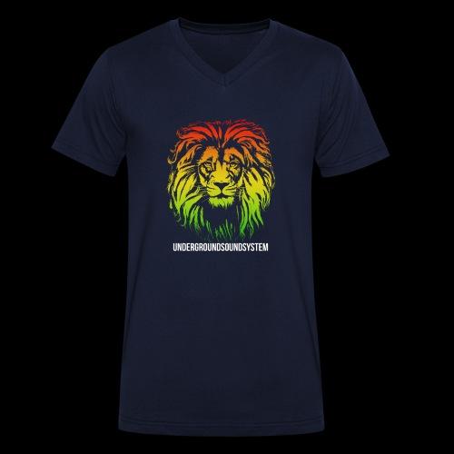 LION HEAD UNDERGROUNDSOUNDSYSTEM AUSTRIA - Männer Bio-T-Shirt mit V-Ausschnitt von Stanley & Stella