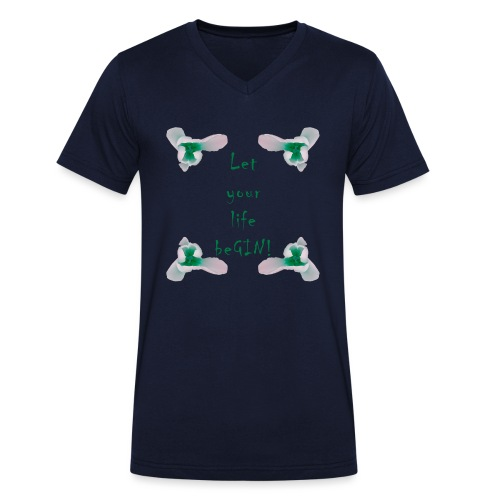 Let your life beGIN! - Männer Bio-T-Shirt mit V-Ausschnitt von Stanley & Stella