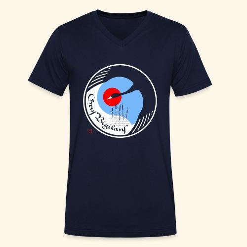 Grus Vigilans - Männer Bio-T-Shirt mit V-Ausschnitt von Stanley & Stella