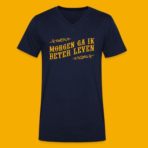 tshirt yllw 01 - Mannen bio T-shirt met V-hals van Stanley & Stella