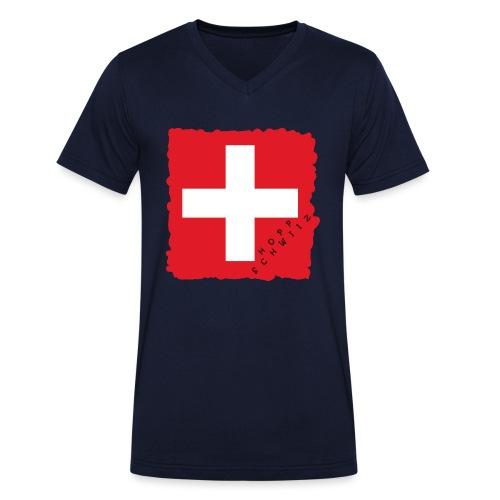 Schweiz 21.1 - Männer Bio-T-Shirt mit V-Ausschnitt von Stanley & Stella